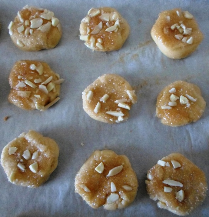 Unbaked butter biscuits