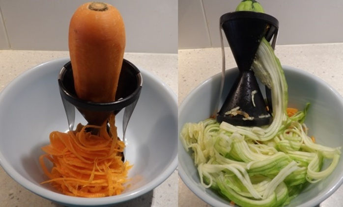 using,gadget,to,cut,carrot,and,zucchini