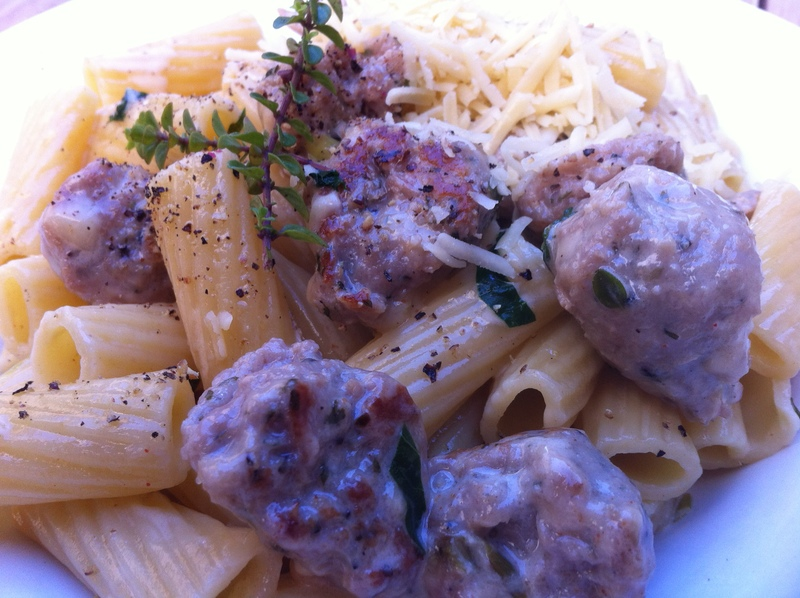 Served  - Easy Meatball Pasta